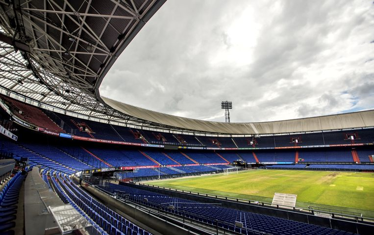 Het interieur van de Rotterdamse Kuip, thuisbasis van Feyenoord. Beeld anp