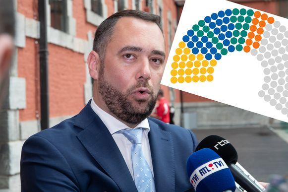 CdH-voorzitter Maxime Prévot. Zijn partij stapt overal in de oppositie.