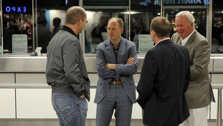 Mark Geestman (tweede van links) is één van de mensen die uit de ledenraad stapt. © ANP Beeld
