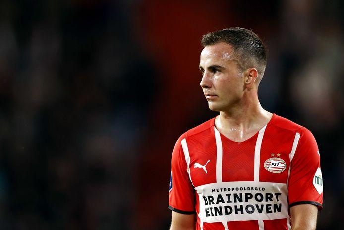 Mario Götze in het shirt van PSV, waar hij deze week tot 2024 bijtekende.
