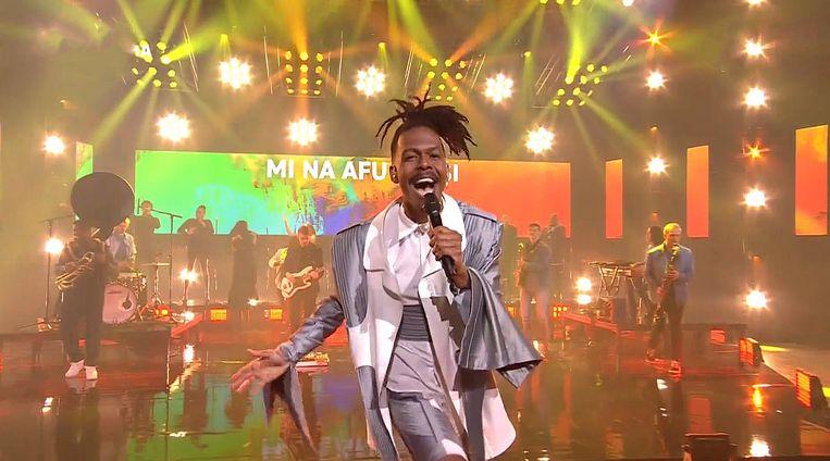 Het songfestival nummer van Jeangu Macrooy werd vanavond voor het eerst gepresenteerd. Beeld AVROTROS