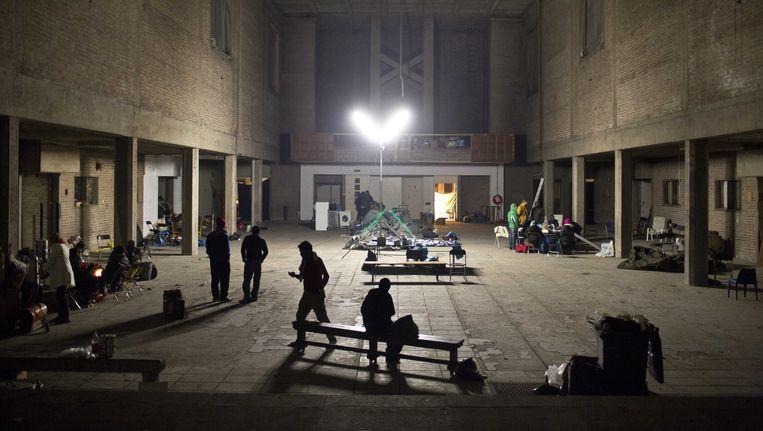 In 2012 bivakkeerde een groep uitgeprocedeerde asielzoekers maandenlang in een gekraakte kerk. Beeld ANP