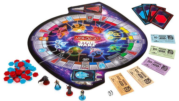 Geen vrouwelijk karakter in de nieuwe Star Wars-variant van Monopoly. Beeld Disney / Hasbro