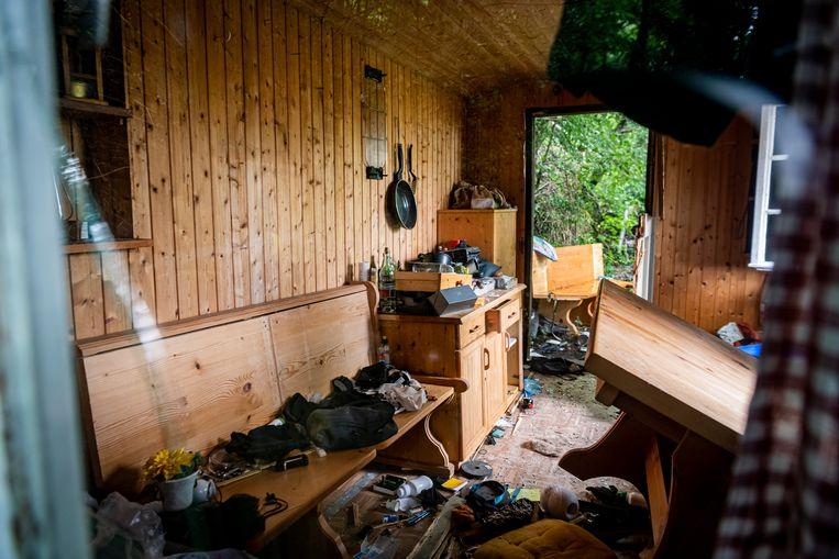 De hut in Oppenau waar Yves Rausch verbleef.  Beeld Getty Images