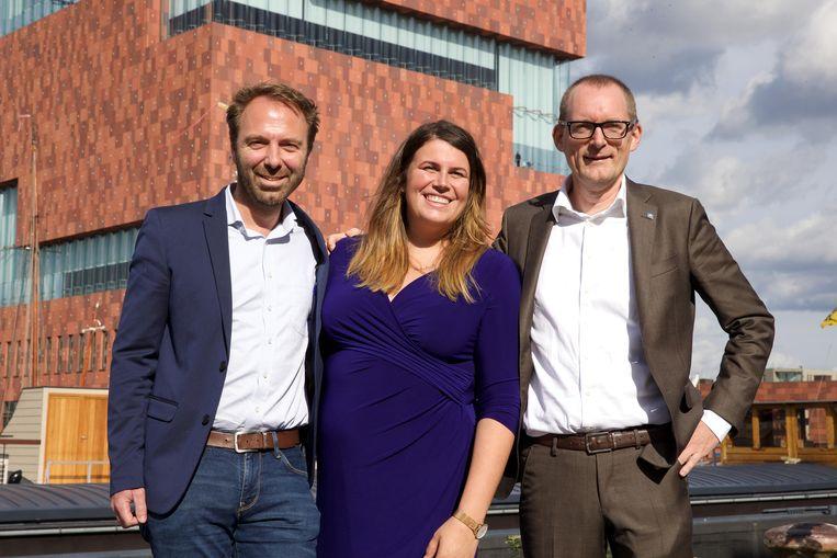 Kris Gysels, Caroline Leys and Joost Germis.  Beeld BELGA