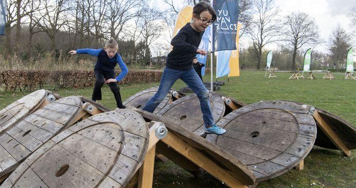 De Europaschool had maandag de primeur voor Hengelo van de Yu Man Race School Tour.