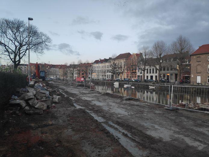 De werken aan het Baudelopark zijn volop aan de gang.