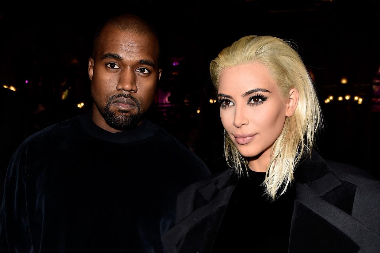 Kanye West en Kim Kardashian Beeld Getty Images