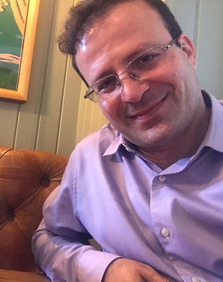 De Brits-Iraanse Kameel Ahmady op een foto die door de Human Rights Watch werd gedeeld om aandacht te vestigen op zijn arrestatie.  Beeld Hollandse Hoogte / EPA