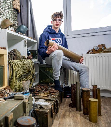 Finian (15) speurt naar bommen en granaten met zijn metaaldetector: 'Ik heb een kort lijntje met de EOD'