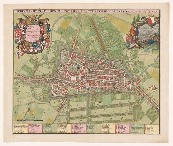 De ingekleurde heruitgave uit 1740.