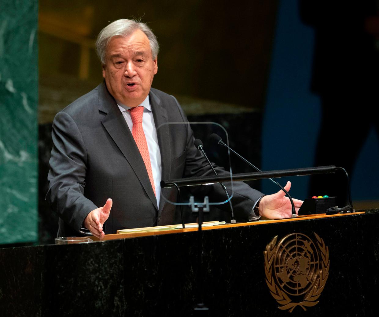 VN-secretaris-generaal Antonio Guterres. Beeld AFP