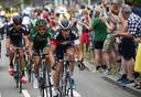 Stef Clement leidt ergens tussen Utrecht en Neeltje Jans een kopgroep in de Tour van 2015. Het was de enige keer dat hij in eigen land een grote ronde mocht rijden.