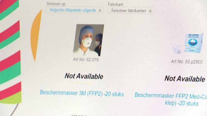 Alle leveranciers geven aan dat het nog weken wachten is op mondmaskers.