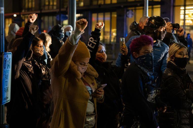 Demonstratie in Portland in de noordwestelijke Amerikaanse staat Oregon. Beeld Eline van Nes