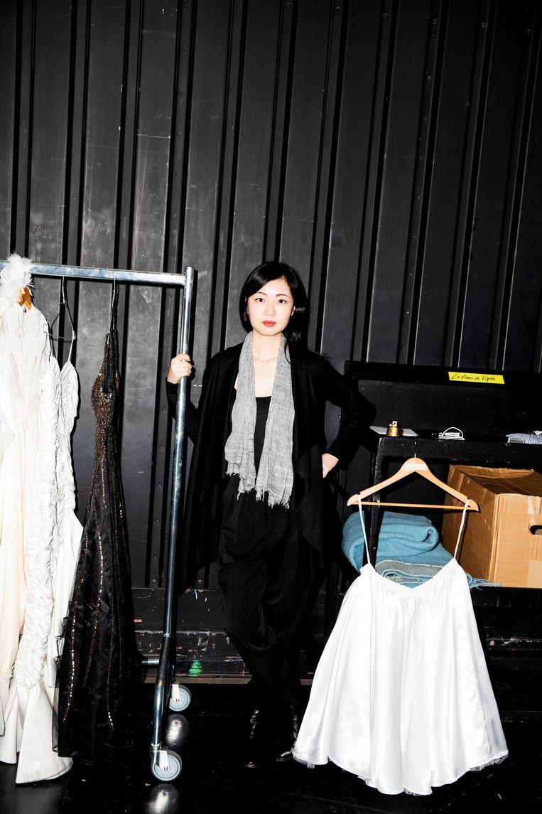 Ying Fang tijdens de repetities van Le Nozze Beeld Marie Wanders