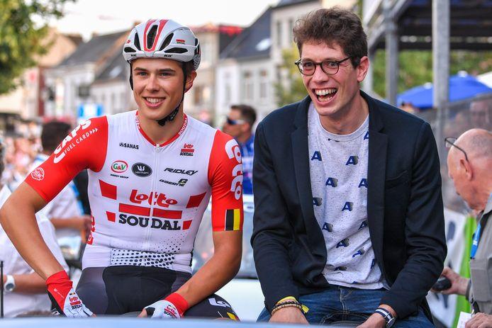 Ward Vanhoof met zijn neef: Stig Broeckx.