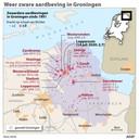 Een overzicht van de zwaarste aardbevingen in Groningen van 1991 tot juli 2020. ANP INFOGRAPHICS