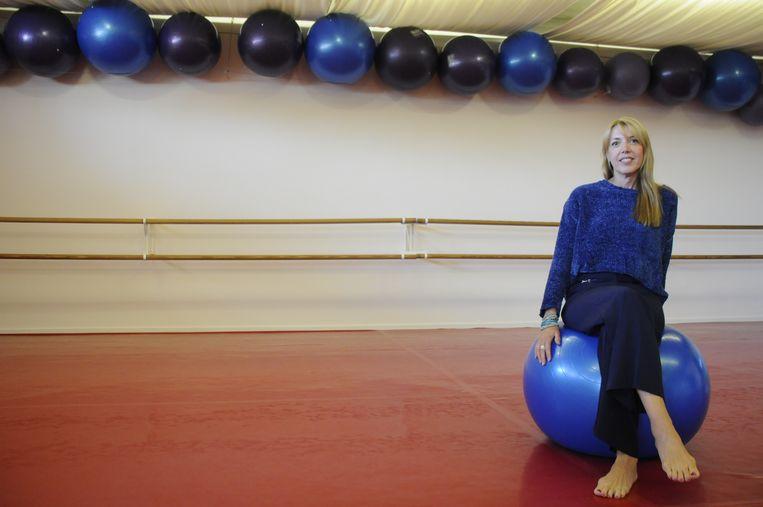 Muriëlle Puttemans in de danszaal van Grand Slam