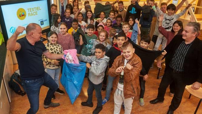Elke kilo textiel telt voor Udense basisschooljeugd in Textiel Race: 'Het is wel een wedstrijd, hè'
