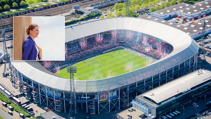 Marijke Mulder maakt zich zorgen over de plannen voor Feyenoord City.
