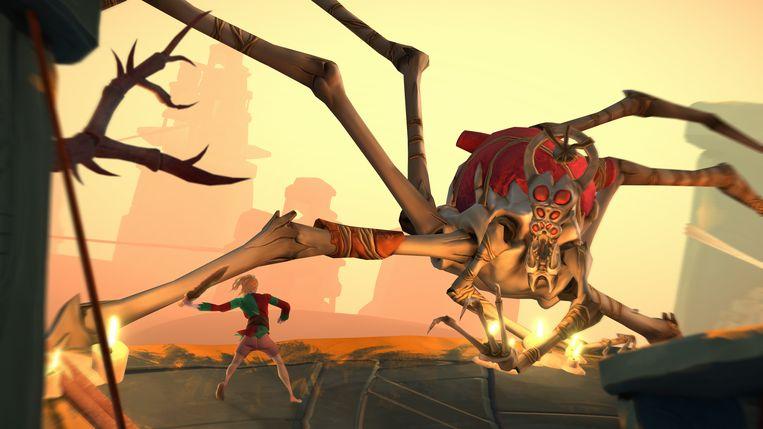 Is het een spin? Is het een krab? Of is het een griezelig opperwezen uit Gods Will Fall? Beeld CleverBeans