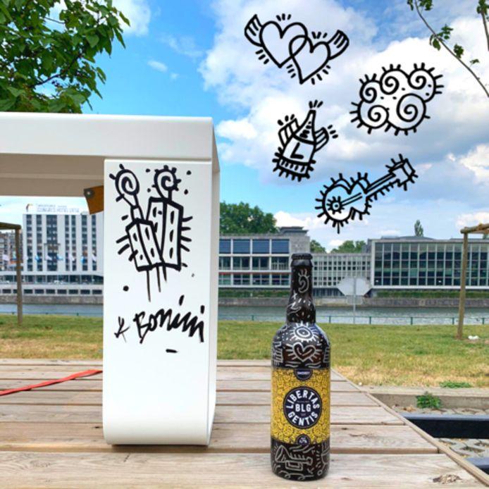 Cinq bouteilles collector sérigraphiées par Fabrizio Borrini sont à remporter.