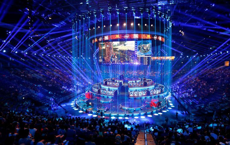 De PUBG Global Invitational 2018, het eerste officiële esportsrtornooi voor het computergame 'PlayerUnknown's Battlegrounds' in Berlijn in juli jongstleden. Beeld REUTERS