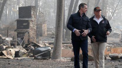 Trump bekvecht met gouverneur van Californië over bosbranden