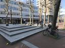 Skaters voelen zich wel prima thuis op het Burgemeester Loeffplein.