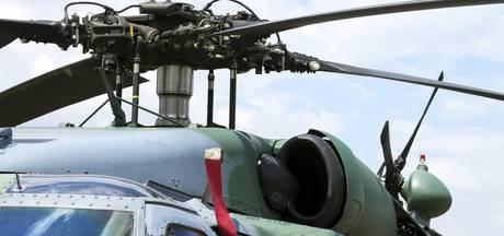 Hele dag helikopter boven Asten
