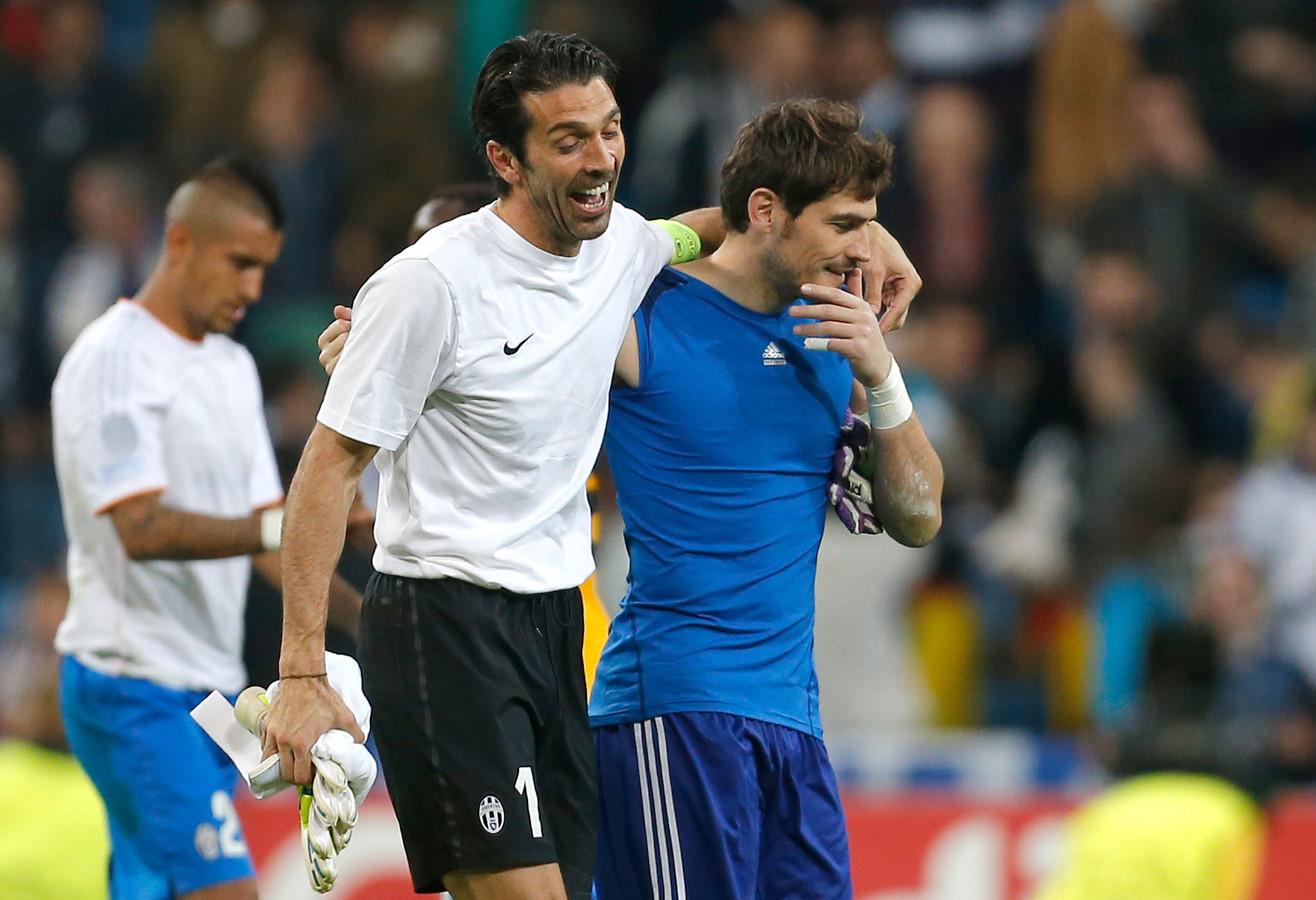 Gianluigi Buffon en Iker Casillas.