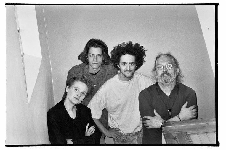 An Pierlé en haar kwartet, met naast haar man Koen Gisen ook Hendrik Lasure en Casper Van De Velde van het jonge jazzduo SCHNTZL. Beeld RV Isadora Gisen