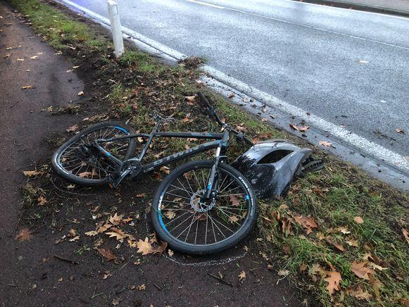 De fiets van het slachtoffer.