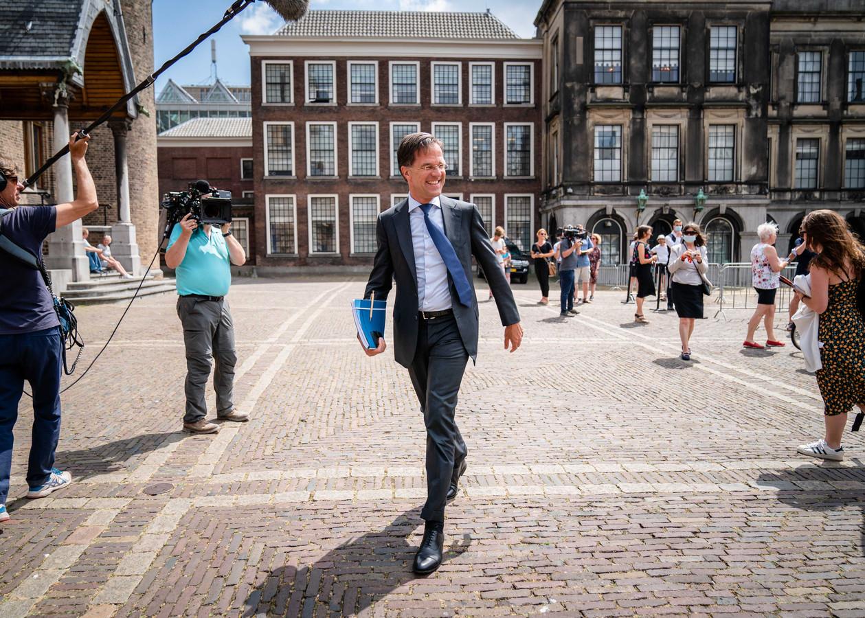 Demissionair premier Mark Rutte op het Binnenhof.