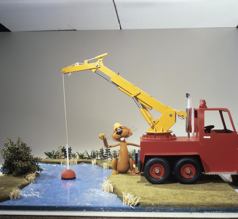 Loeki in een met de hand gemaakt decor in de Toonder Studio's in 1982. Beeld Hollandse Hoogte/Nederlands Instituut voor Beeld en Geluid