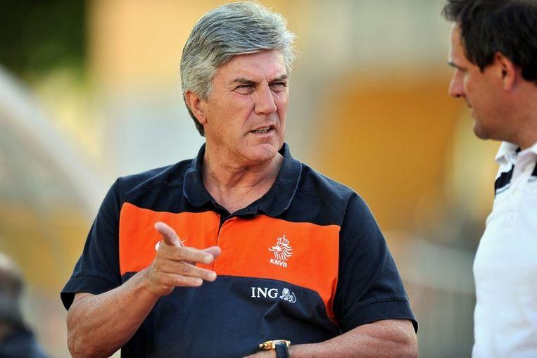 Cor Pot, bondscoach van Jong Oranje. Beeld anp
