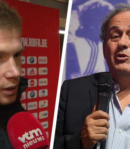 """Platini recadre De Bruyne: """"Qu'il aille se plaindre aux hommes politiques de son pays"""""""