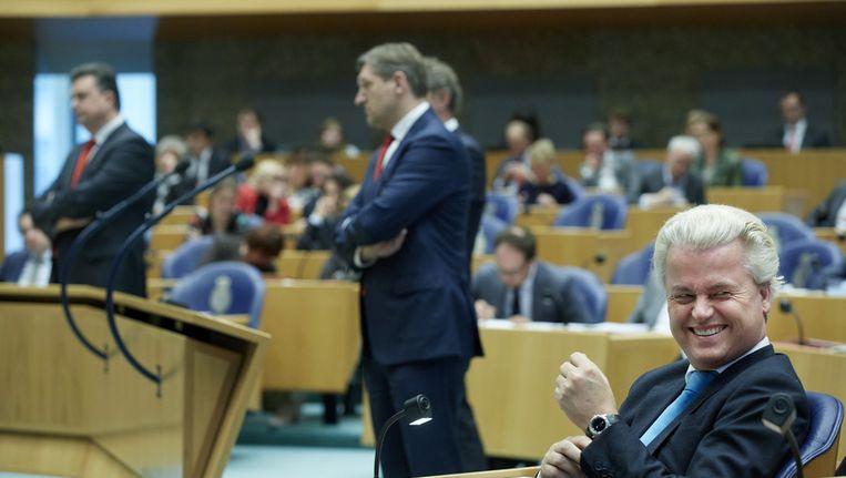 Deze oppositiepartijen zullen het kabinet vandaag het vuur na aan de schenen leggen: SP, CDA, GroenLinks en PVV. Beeld ANP