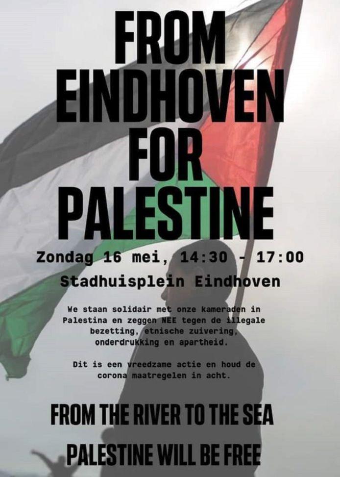 Flyer ter aankondiging van de demonstratie