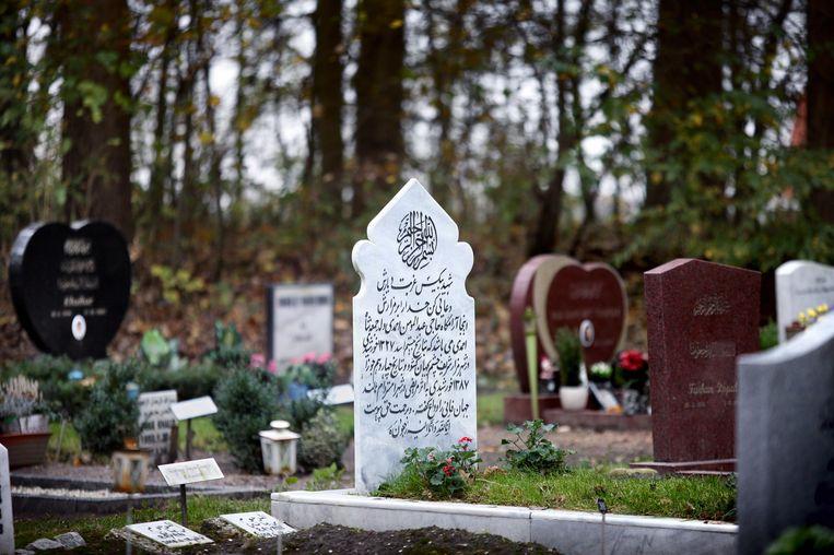 Het Islamitische gedeelte van begraafplaats Westgaarde aan de Ookmeerweg. Beeld Jean-Pierre Jans