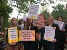 Demonstratie tegen debat Rutte en Baudet