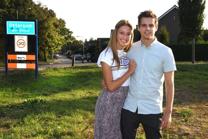 Yanick Cillissen (25) en Jetske van Bergen (22) staan te trappelen. Een jaar geleden was er al een informatieavond van de gemeente en gaf het stel meteen aan interesse te hebben. Ze willen een eigen huis. In Ottersum.