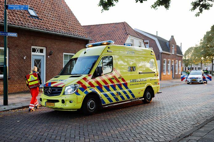 Een fietser is gewond geraakt aan de Veerstraat in Boxmeer.