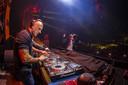 DJ Paul Elstak tijdens een optreden in Ahoy. Elstak wordt gezien als de grondlegger van Hardcore.
