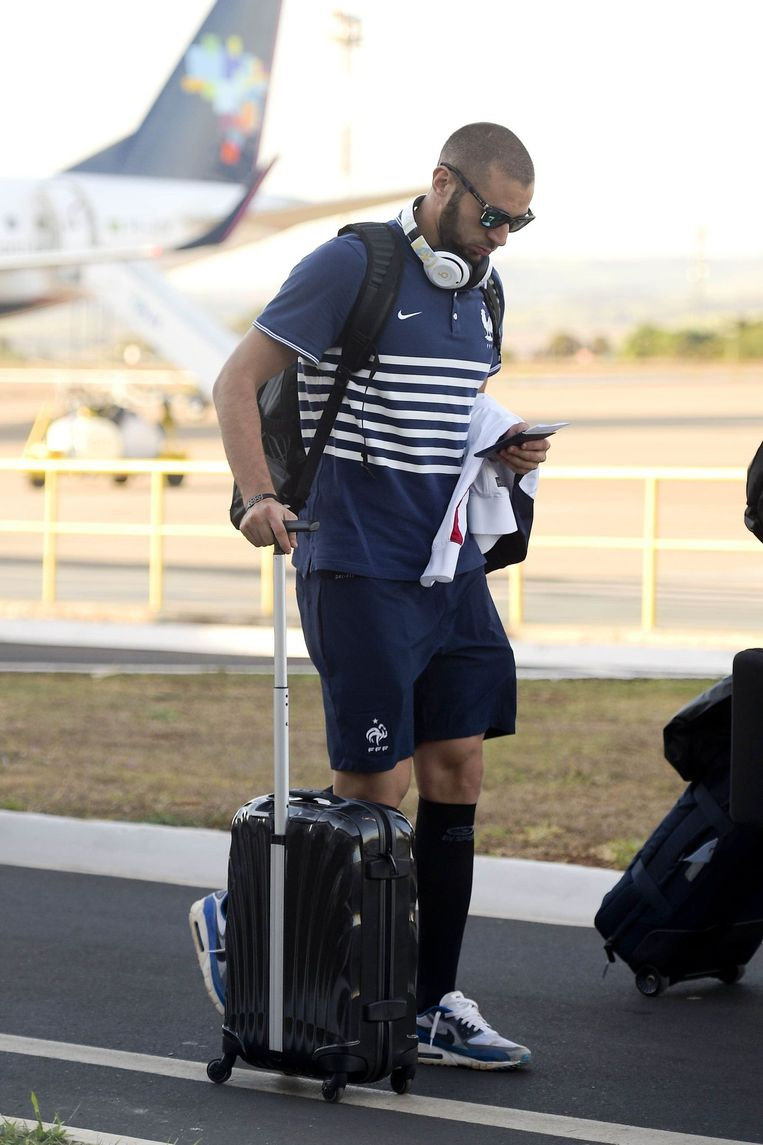 Benzema heeft drie goals op zijn conto, maar faalde tegen Duitsland in de kwartfinale Beeld PHOTO_NEWS