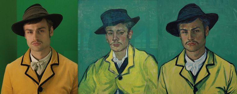 De transformatie van Douglas Booth in Armand Roulin. Beeld