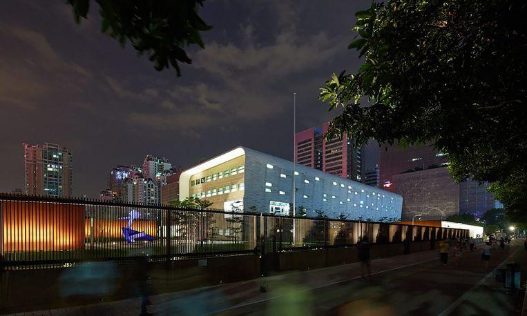 Het Amerikaanse consulaat in de Chinese stad Guangzhou. Beeld
