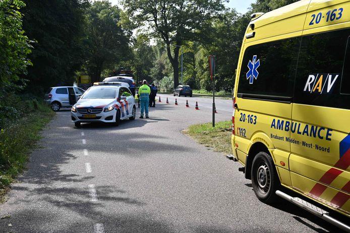 Hulpdiensten gearriveerd in Rijsbergen.