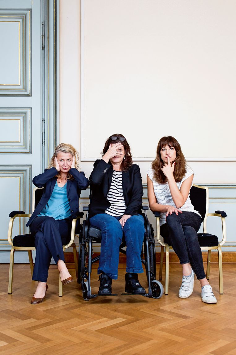 Kaat Beels, Nathalie Basteyns en Natali Broods. Beeld Steven Richardson